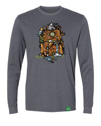 Wild Tribute Nature Backpack Long Sleeve  T-Shirt