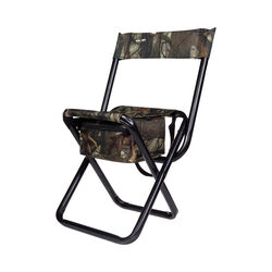 Vanish Camo Folding Hunting Stool With Back By Allen