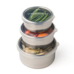 U-Konserve Round Nesting Trio Stainless Steel Container (Set of 3)