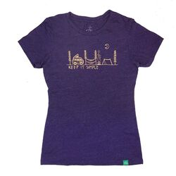 Wild Tribute Women's Keep It Simple Athletic T-Shirt